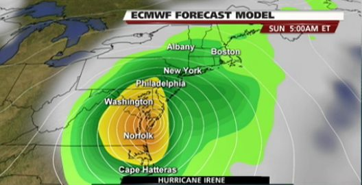 European-Hurricane-Irene-Landfall-Model