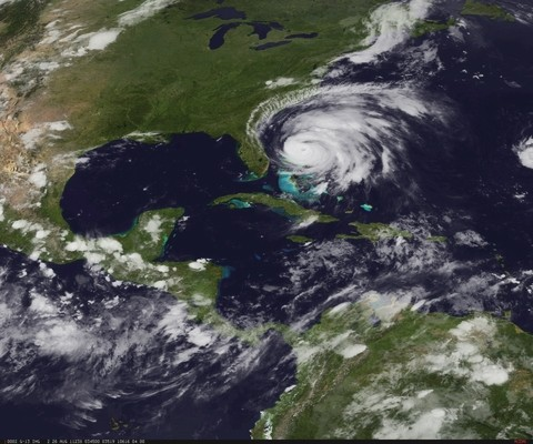 NOAA-Real-Time-GEO-Satellite-Image-Of-Hurrican-Irene