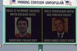 Billboard Cuts Through Media BS: Holmes Killed 12, Obama Kills 1000s!