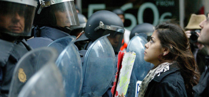 Police Provocateurs At Spain Austerity Protests