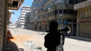 Armed-gangs-fire-rocket-at-house-in-Syria