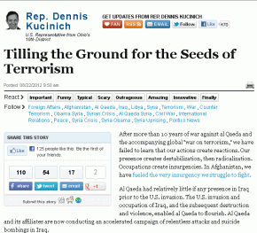 Congressman-Kucinich-Warns-Of-Al-Qaeda-False-Flage-In-Syria-290x263
