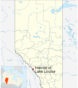 Location-of-Lake-Louise-In-Canada