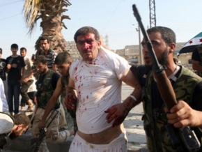 War-crime-Syrian-rebels-execute-POWs-GRAPHIC-VIDEO-