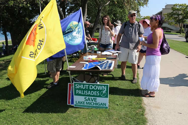 Protest Rally Opposing Proposed Nuclear Waste Abandonment Dump on Lake Huron, Ontario
