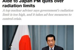Senior adviser who resigned says Japan gov't set public's safe radiation limit 20 times too high