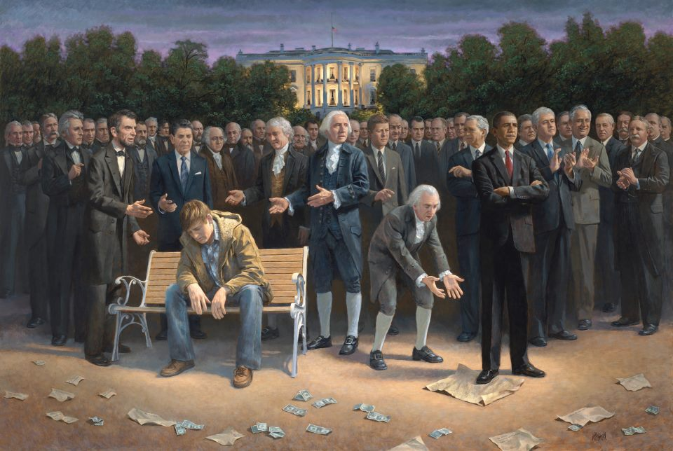 Obama standing on Constitution 83013_n