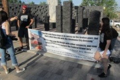 WAC-OK Activists Hold Street Action During 16th Anniversary of OKC Bombing