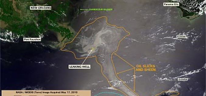 Feds Can't Find Oil But Satellite Photos Show BP Gulf Oil Spill Covering 12,000 Square Miles