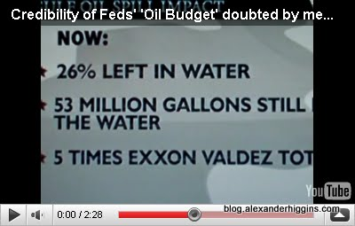 Government says only 26% of BP Gulf Oil Spill is left in the water, 5 times the amount spilled in the Exxon Valdez