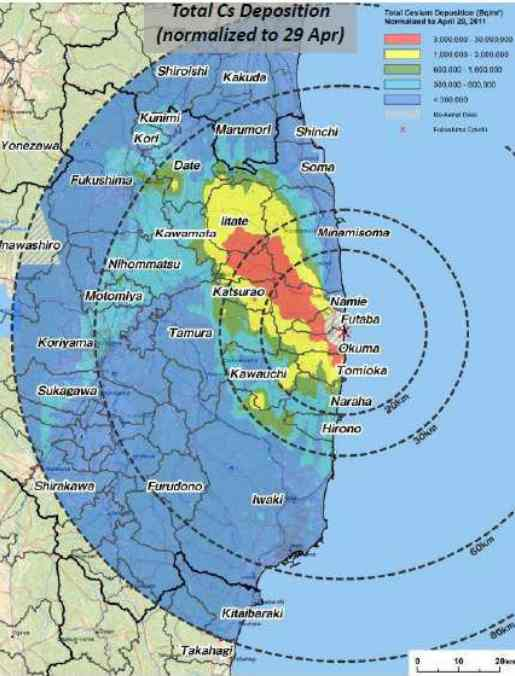 Radiation Levels Higher Than Chernobyl Evacuation Limits Span Over - Japan radiation map 2015