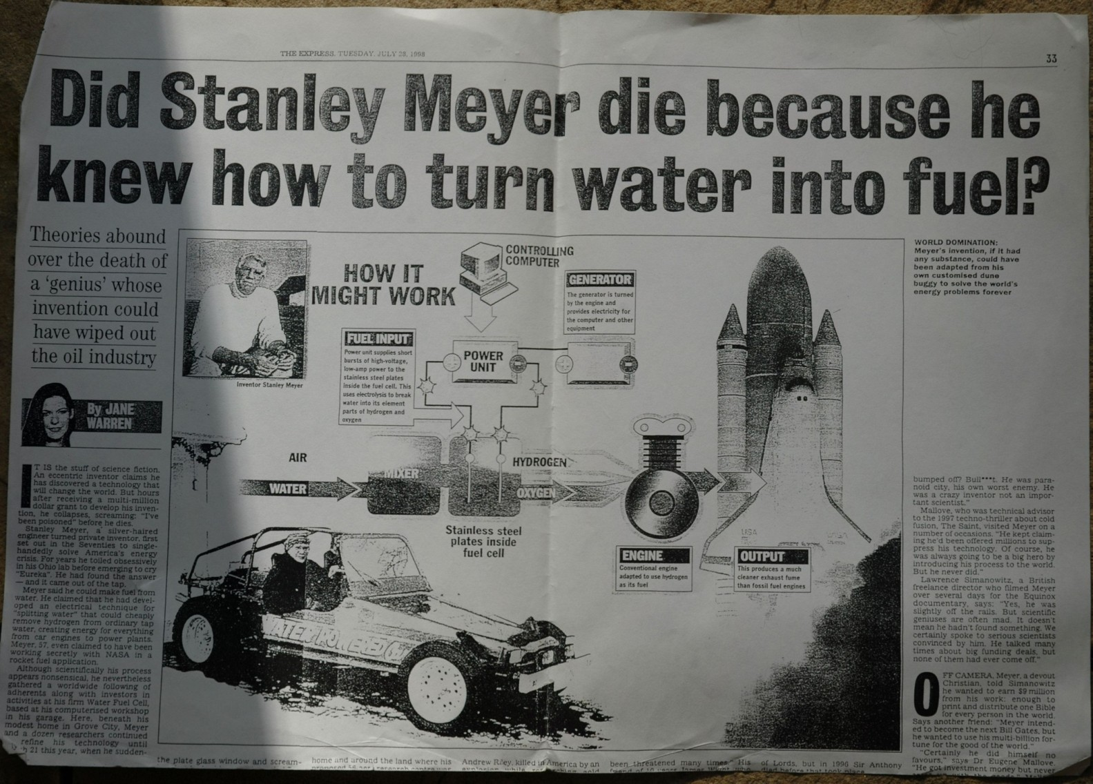 Water-Powered Cars: Inventors Killed, Intimidated and Payed Off To ...