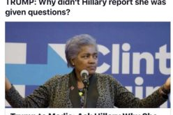 Trump Asks Why Didn't Hillary Report Her After CNN Fires Brazile For Giving Hillary Debate Questions