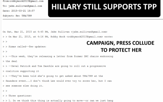 Hillary Secretly Waiting To Publicly Announce TPP Support  – WikiLeaks #PodestaLeaks