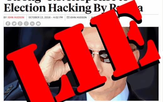 MSM Silent – US No Longer Claims Russia Hacked Podesta Emails