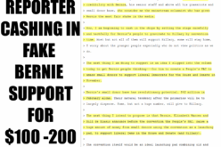 Theft By Deception: Reporter Cashed In Fake Bernie Bernie Support for $100-200 Million – Podesta Emails