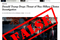 Fact Check: Trump Never Said He Will Not Investigate Hillary Clinton – NY Times Lied & MSM Echoed