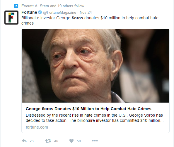 fortune-soros-pledges-10-million-to-fight-hate-crimes-aka-jill-stein-recount
