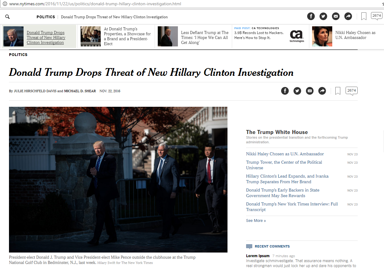 ny-times-claims-trump-has-dropped-threat-of-email-investigation
