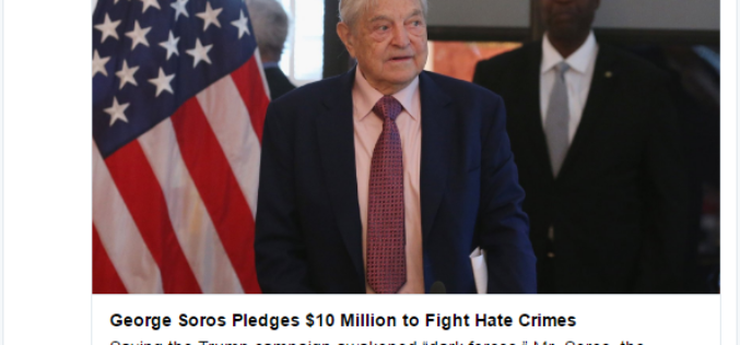 MSM Admits Soros Donated $10 Million This Week… Guess Where It Went