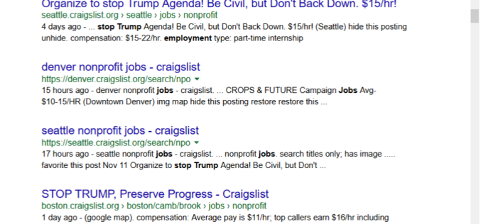 Stop Trump Protest Jobs Pop Up Nationwide – CNN, Care to Comment?