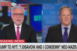 'You've Asked Me Eight Times!': Sean Spicer Blows Up When Wolf Blitzer Pushes on Neo-Nazis
