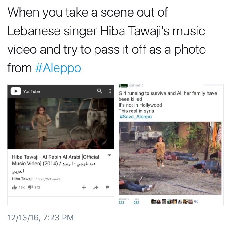 Fake news being pushed by the corporate media about Syria