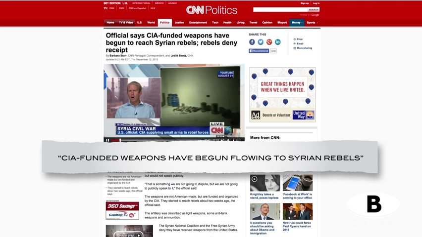 The CIA Created ISIS by Funding and Arming Islamic Jihadists to Overthrow Syria.