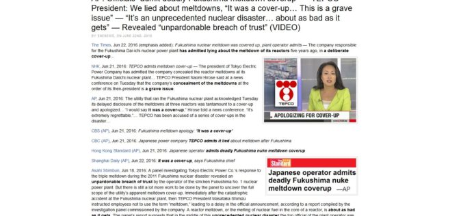 Corporate Media Admits 5 Years of Fukushima Fake News