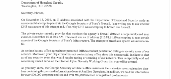 DHS Caught Hacking U.S. Election System