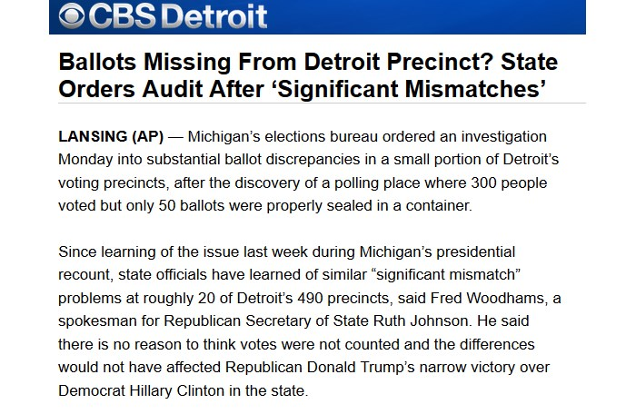 Detroit Orders Audit after discovery of significant mismatches