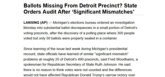 Unsealed Detroit Michigan Recount Poll Books Went Missing For Days