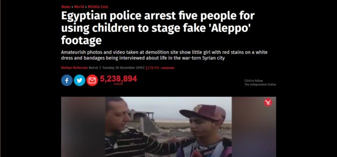 5 Arrested For Using Children to Stage Fake Syria War Crimes Videos