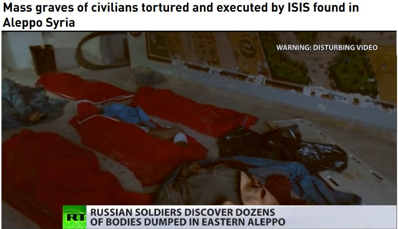 Mass graves of civilians tortured and executed by ISIS found in Aleppo Syria