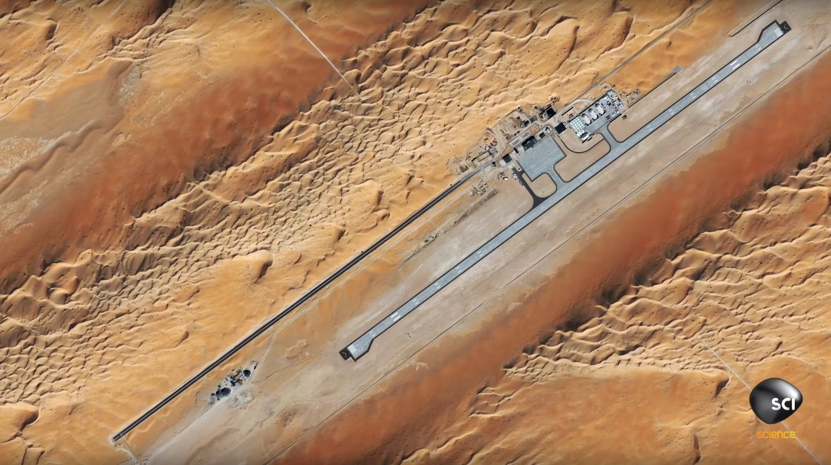 Satellite imagery capture apparent US assassination drone base or CIA black torture site in Saudi Desert