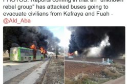 Syria Terrorists Caught On Video Attacking Aleppo Evacuation Buses