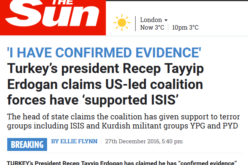 Turkey Announces Proof U.S. is Supporting ISIS