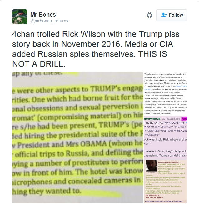 4 Chan claims to have trolled Rick Wilson with the Trump Golden Showers Story