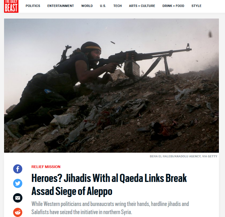 Al Qaeda Jihadis break siege of Aleppo