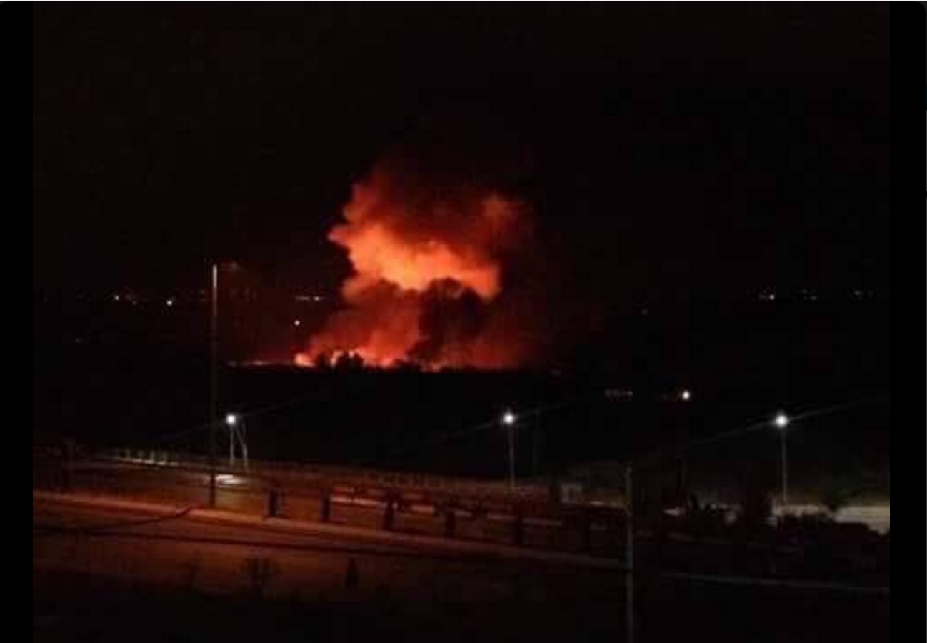 Israel Bombs Syria - Capital city airport engulfed in flames