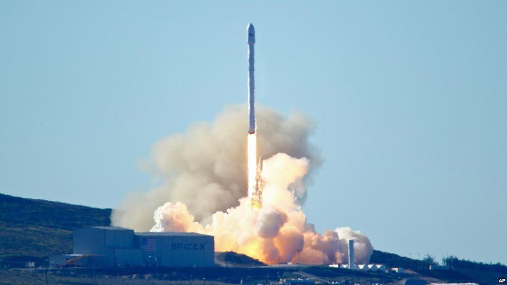 SpaceX's Falcon 9 rocket is launched at Vandenberg Air Force Base, Calif., Jan. 14, 2017