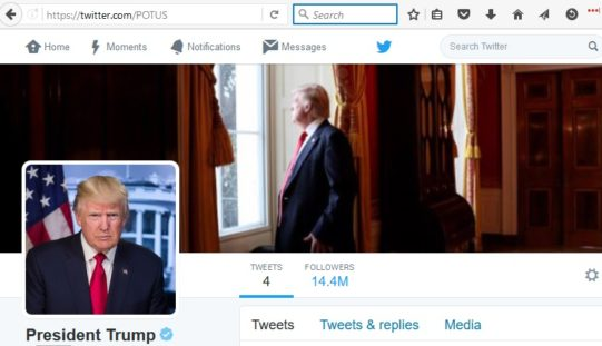 Trump scrubs Obama's Twitter feed and parts of WhiteHouse.Gov