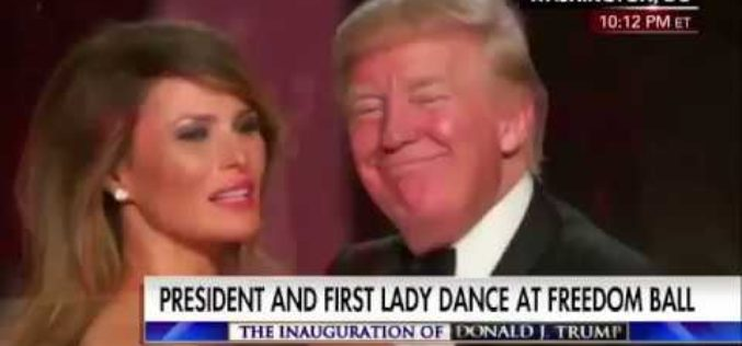 President and First Lady Trump Dance At Freedom Ball
